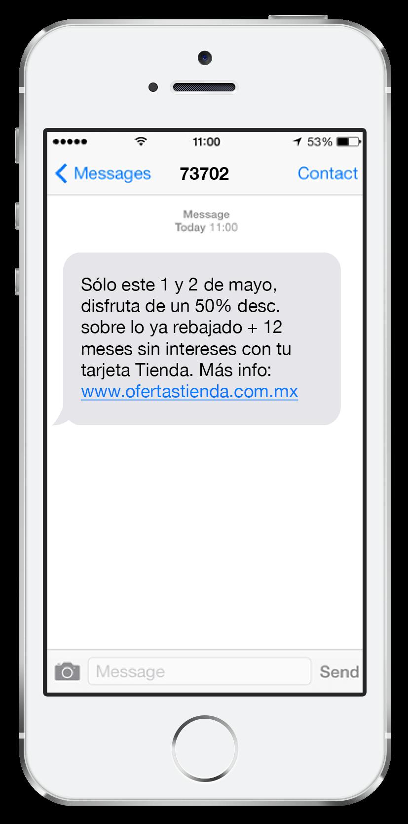 Mensaje SMS Corto 4