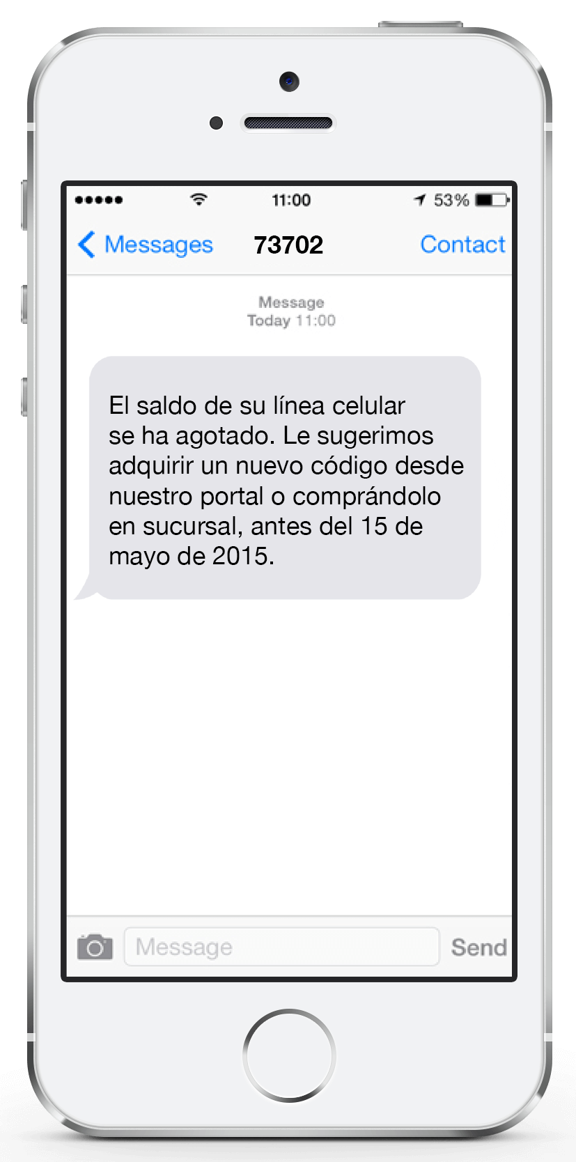 Mensaje SMS Corto 5