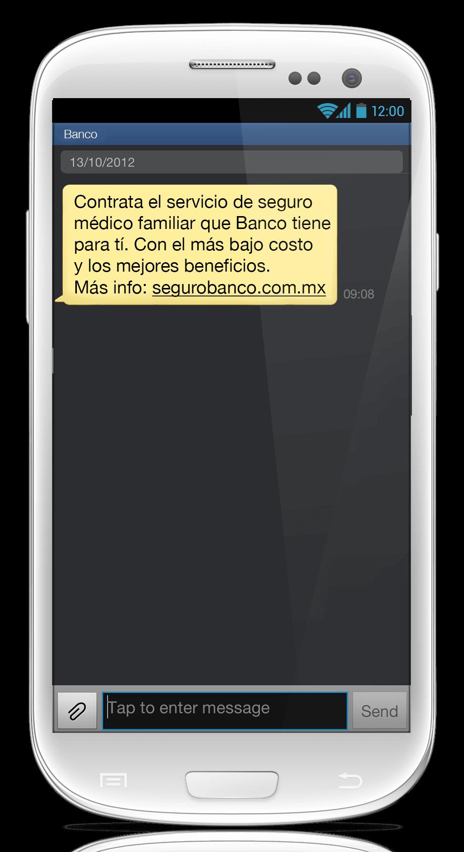 Mensaje SMS Enmascarado 4