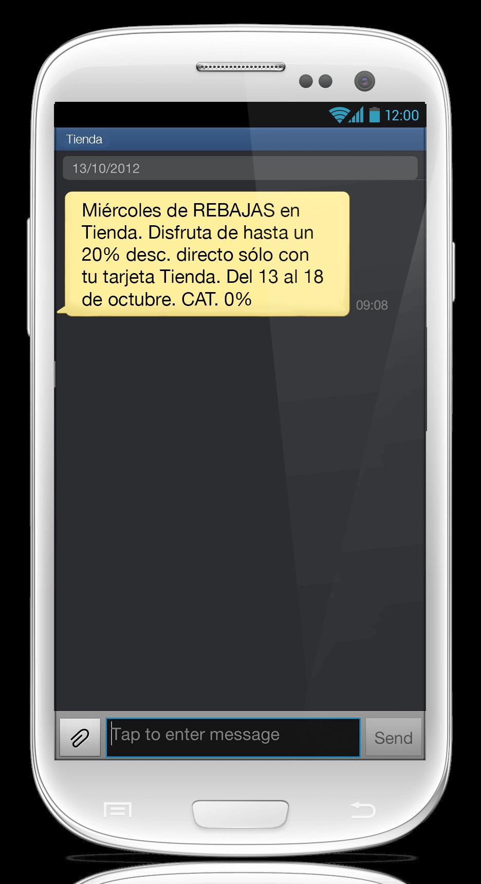 Mensaje SMS Enmascarado 5