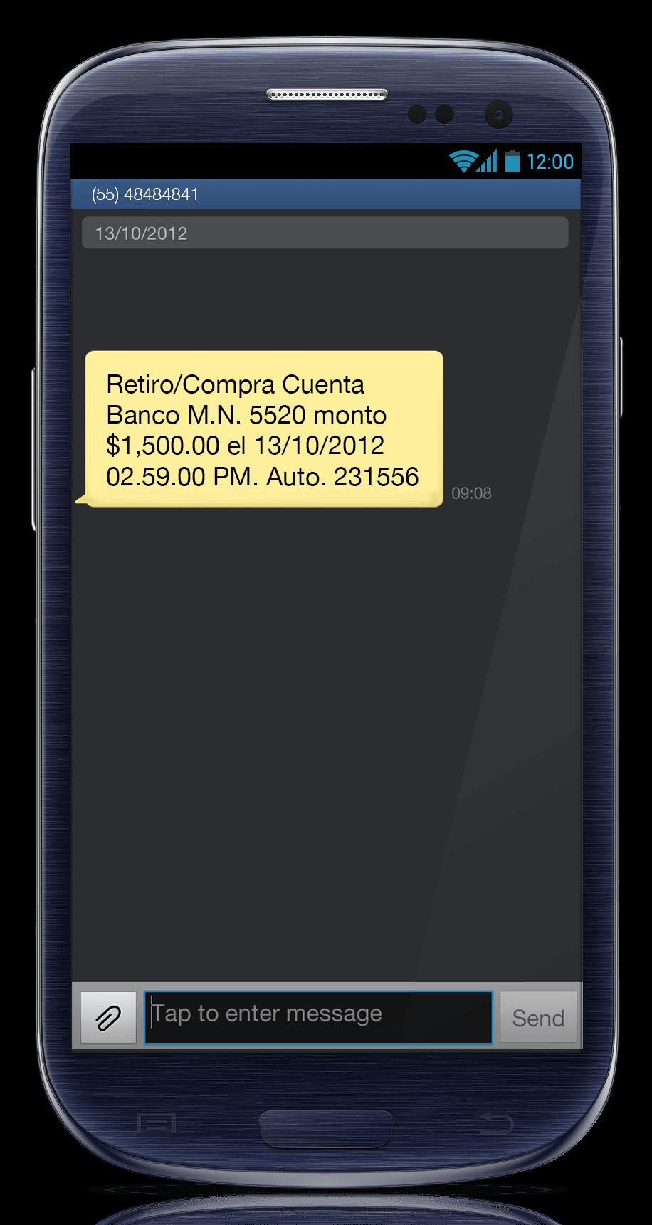 Mensaje SMS Remitente Largo 3