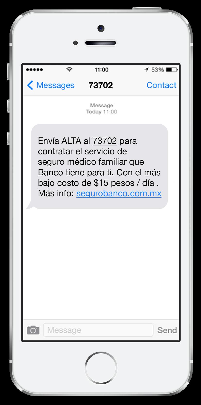Mensaje SMS Premium 5